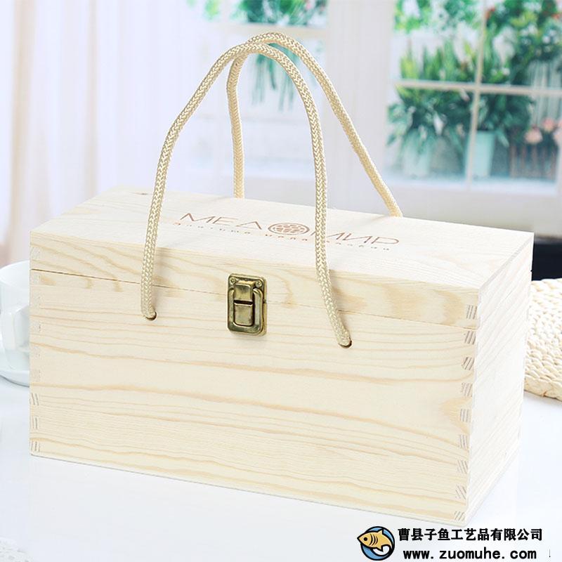 蜂蜜木盒 双瓶装蜂巢蜜礼品盒